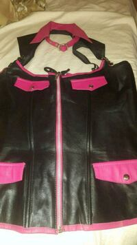 black and pink zip-corset vest Barrie, L4N 3K5