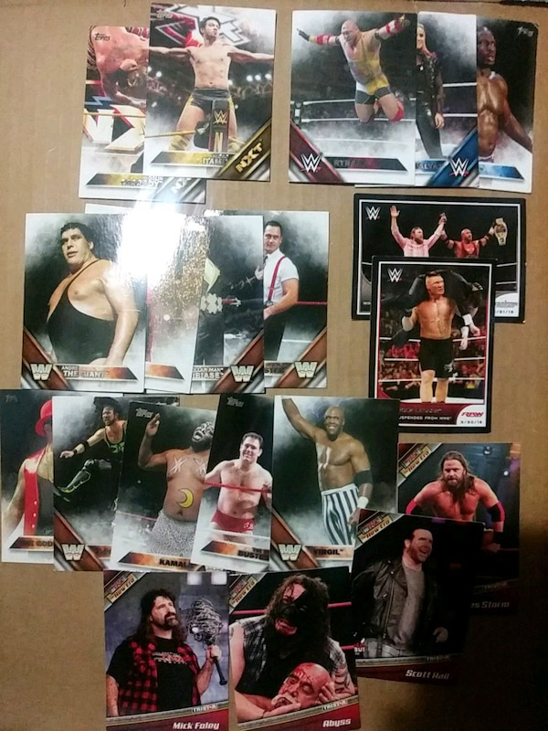 37 WWE trading cards a12c5015-82dc-4171-9418-1097cd667fd8