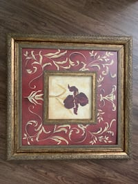 Two brown wooden framed painting of flower Indianapolis, 46254
