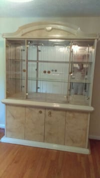 brown wooden framed glass display cabinet Silver Spring, 20905