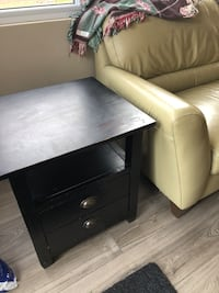 Side table. Wooden black. Free delivery.  Small blemish on top London, N5Y 4A6