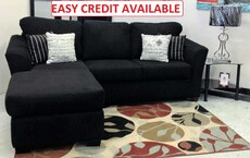 New Black Sectional Inspire With 4 Accent Pillows
