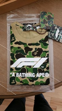 Bape x F1 Tee Shark Small