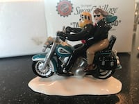 "Department 56 snow village - ""two for the road"" blue bike - retired"