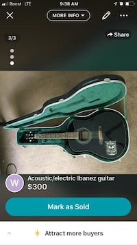 green and black acoustic guitar with case screenshot Westminster, 80021