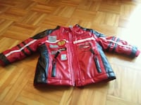 red and black leather zip-up jacket Montreal, H4G 3K1