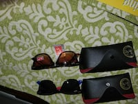 brown-and-black Ray-ban sunglasses with cases Hialeah, 33010
