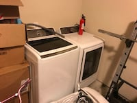 Samsung was her and dryer, electric, apartment has washer and dryer already and they are taking up space, shoot me an offer Austin, 78748