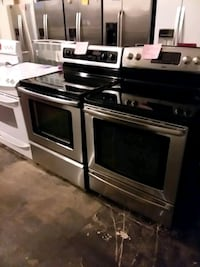 Stainless steel stove electric 5 burners conviction oven