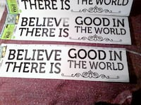 """""""Believe there is good in the world"""" wall decals Brampton"""