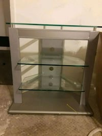 white wooden framed glass top TV stand Lake Worth, 33467
