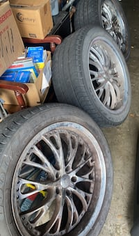 """20"""" rims with tires 245/50r20 FULL SET"""
