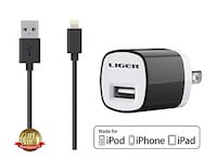 "Liger USB Wall Power Bank (Charger) with cable. New, in original packaging. Armband, Liger Sweat Proof Armband Case   Key Holder for iPhone 6S (4.7""). Rancho Cordova"