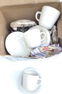 white ceramic teacups in box North Vancouver, V7G