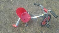 red and silver trike