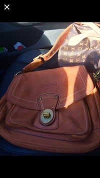brown coach leather crossbody bag and brown louis vuitton classic monogram leather bag South Miami, 33143