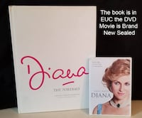 PRINCESS DIANA Coffee Table Hardcover Book & DVD Movie Bundle Hamilton