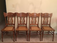 Four brown wooden windsor chairs Woodbridge, 22191