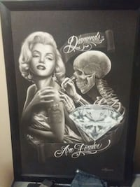 Marilyn Monroe portrait with black wooden frame Airdrie, T4B 0V7