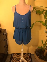 Blue Romper Shorts - Size Small