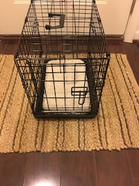 Dog Crate with Plush Insert  & Potty Pad Holder Reston, 20190