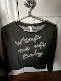 H&M Christmas crop top size M Montreal