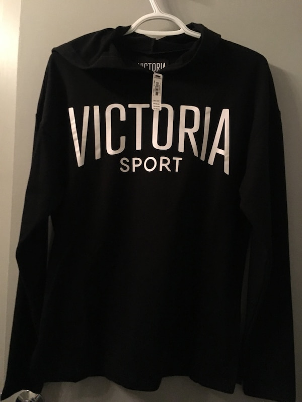black and white Pink by Victoria's Secret hoodie