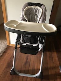 High chair with adjustable foot end and free kids learning chair of $10 Plymouth