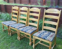 4 Dining Chairs Good Condition Silver Spring