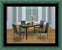brown wooden dining table with chairs Laurel