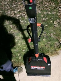 Jobmate electric snow thrower.