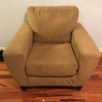Green fabric chair