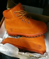 Orange Timberlands for kids Capitol Heights