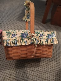Longaberger wicker basket