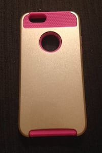 gold and hot pink iPhone case
