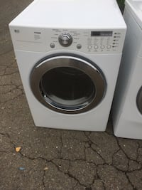 white LG front-load clothes washer 2344 mi