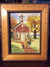 Original Mary miller Salem watercolor painting cover art for magazine. No offers. Great for teacher