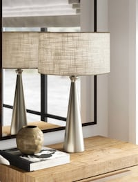 Beautiful stainless steel table lamp