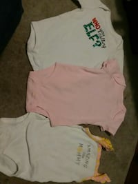 baby's white and pink onesies Pearisburg, 24134