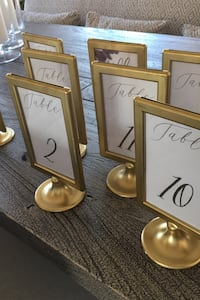Table numbers & inserts Gold (1-20)  Ashburn, 20148