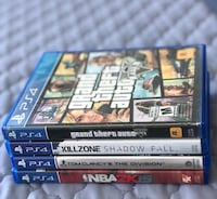 PS4 Games for sale! Pick up only! Brampton, L6Y 4G6