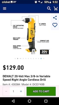 DeWalt 20v Right Angle Drill Weaverville, 28787