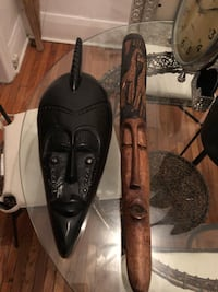 2 Authentic African Masks. Both from West Africa Toronto, M6C 2X7