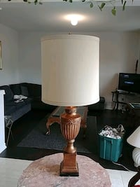 Vintage Marble Based Table Lamp