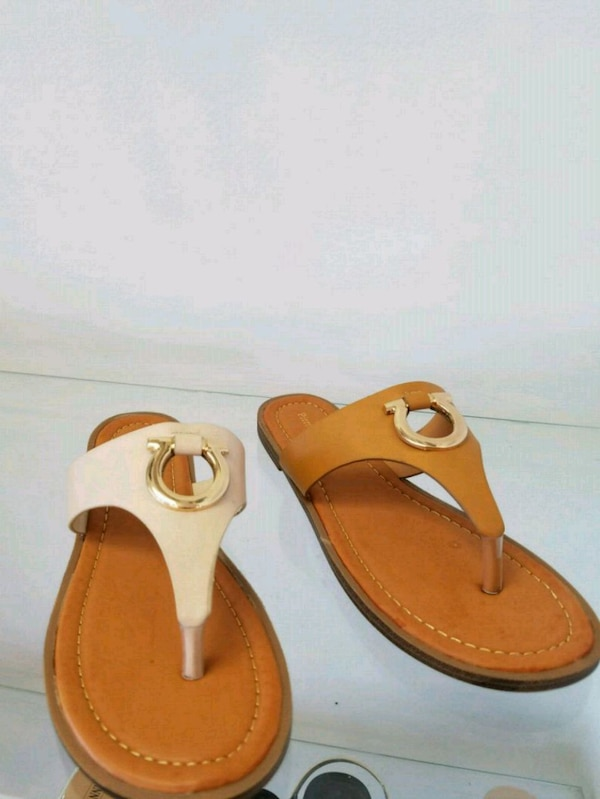 Pair Leather Sandals Pair Of Brown Brown Leather Of thQdCsr