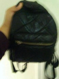 black leather small cute bookbag