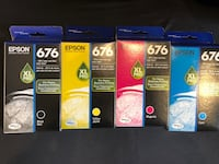 1 set of epson ink cartridges 676 xl pro.  $25 each/$90 for all 4.  Firm   Costa Mesa, 92626