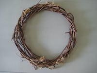 brown and white rope wreath null