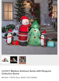 Santa and Penguins inflatable - Brand New Markham, L6E 0T7
