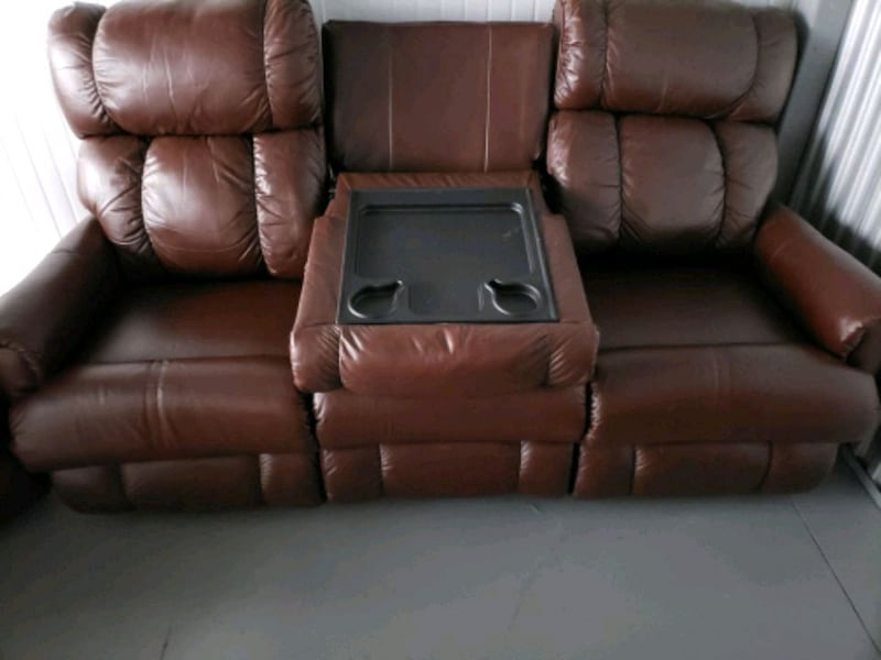 Sold Lazy Boy Leather Sofa And Loveseat